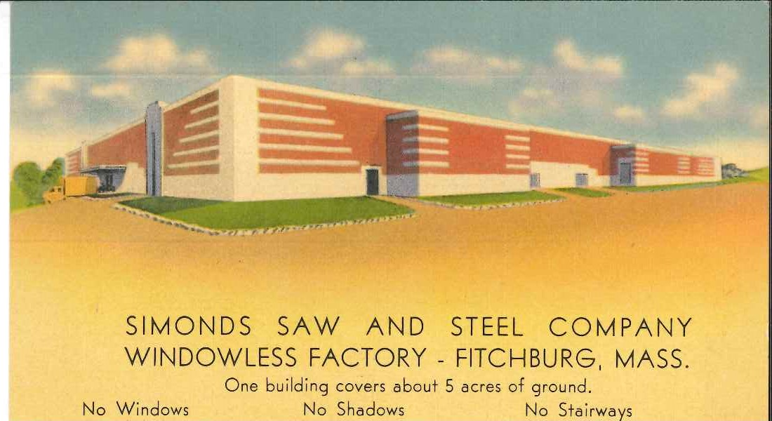 Postcard of the Simonds factory